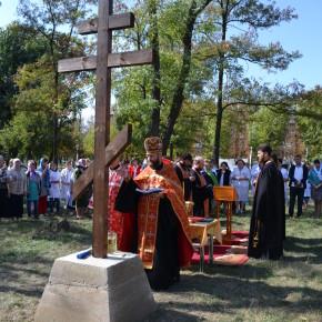 В г. Покровске состоялась закладка камня под строительство нового храма.